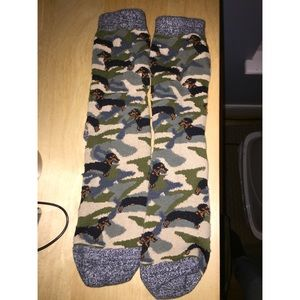 Urban Outfitters Camo Dachshund socks